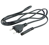 Power Supply Cable 2-Prong 2 Outlets Cord IEC320 C7 for Laptop Notebook Tablet 1.5M 4.5FT