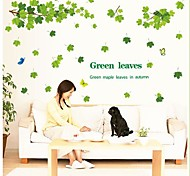 Doudouwo® Botanical The Fresh Green Levaves Wall Stickers