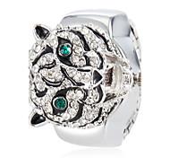 relógio de estilo tigre de cristal anel de liga de quartzo das mulheres (cores sortidas)