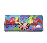 Rainbow Colorful Loom (Band 600PCS、Crochet Hook、24 S Hooks、Shelf、Blowing Molding、Instructions)