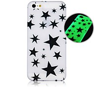 Five-pointed Star Fluorescence after Sunniness Hard Back Case for iPhone 4/4S