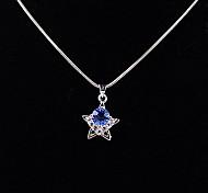 Dark Blue Rhinestone Lucky Star Pendant(Pendant Only)