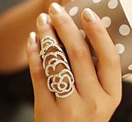 lureme®hollow fuera rosa anillo de cristales completo
