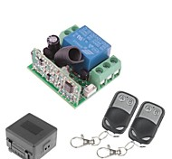 12V 1-Kanal Wireless Remote Power Relay-Modul mit Doppel Fernbedienung (DC28V-AC250V)