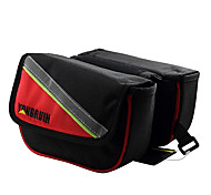 RONGRUIHR 5.0 Inch 1680D Oxford Fabric Red and Black Waterproof Wearable Cycling Frame Bag with Reflective Stripe