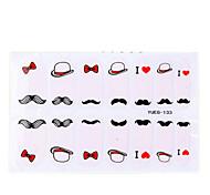 4tlg Cartoon Schnurrbart Umweltschutz Nail Art Sticker