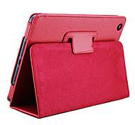Solid Color Ultra-thin PU Leather Full Body Case for iPad mini 3, iPad mini 2, iPad mini(Red)
