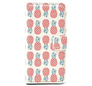 Pineapple Design PU Leather Case with Card Holder for Samsung Galaxy S4 Mini I9190