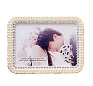 European Pearl Rectangular Frame 7 inches