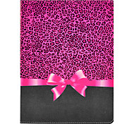 Rose Leopard Bow Pattern PU Leather Full Body Case with Stand for iPad 2/3/4