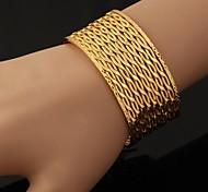 u7® grandes plateados oro de 18 quilates grueso brazaletes Pulsera para el brazo para hombres o mujeres pulseras