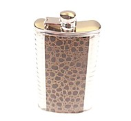 Lin Qun R Man Serpentine Brown Stainless Steel Men with Military Users is Hip Flask