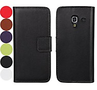 Solid Color Pattern Hard Case with Magnetic Snap and Card Slot for Samsung Galaxy Ace 2 I8160 (Assorted Colors)