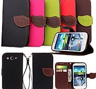 KARZEA® Leaf Mixed Colors case with Black TPU Back Card Holder and Stand Function For Samsung Galaxy S3 i9300