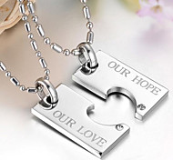 Romantic Couple (Lovers) Titanium Steel Pendant Necklace