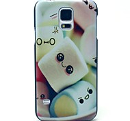 Towel Cake Smile Pattern Hard Case Cover for Samsung Galaxy S5 I9600
