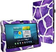 Nieuwe Leopard Print PU Leather Full Body Case met riem en Sticker voor de Samsung Galaxy Tab 2 P5100