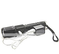 LT-FL-1019 UCL Lens 3 Modes 1xCree XPE T6 Zoom Led Flashlight(1000LM.1x18650.Black)