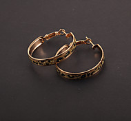Fashion Leopard Print 3.5cm Hoop Earrings(1 Pair)