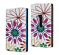 Flower Pattern PU Leather Full Body Case for Nokia Lumia 920/N920