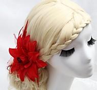 Женский Для девочек Перья Ткань Заставка-Свадьба Особые случаи на открытом воздухе Гребни Цветы