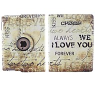 English Letters Pattern 360 Degree Rotating PU Leather Case with Stand for iPad 2/3/4