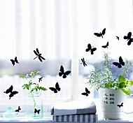Симпатичные бабочки Дизайн Съемный Установка Пластиковые стены стикеры (1шт)