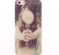 Make a Wish Letter Design Soft Case for iPhone 5/5S