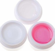 3PCS  Nail Art UV Gel (1 Clear &1 White & 1 Pink)