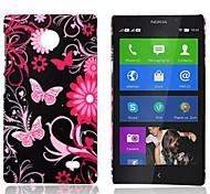 Fiore e la causa del modello di farfalla gommata posteriore duro per Nokia X X +