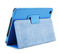 Solid Color Ultra-thin PU Leather Full Body Case for iPad mini 3, iPad mini 2, iPad mini(Blue)