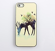 Hard Case Elk e Bird design in alluminio per iPhone 4/4S