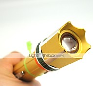 LT-HJ123 Rechargeable 3 Modes 1xCree XML T6 Zoom Led Flashlight(1000LM.1x18650.Golden)