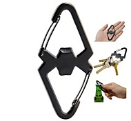 Stainless Steel 2-in-1 Carabiner and Bottle Opener Camping Tool