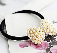 Titulaire bowknot style élastique de cheveux d'une bande élastique de queue de cheval pour les femmes