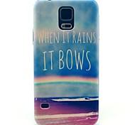 Regenbogen auf dem Meer Muster Hard Case für das Samsung Galaxy i9600 s5