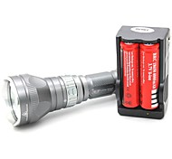 LT-QS04 Interrupteur magnétique 5 mode 1xCree XML T6 de plongée à LED Flashlight (1000LM.1x18650.Gray)