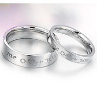 An Arrow Through Heart Feeling Aluminum Titanium Steel Ring