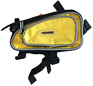 VSHENG Yellow Triangle Cycling Bicycle Front Tube Bag