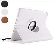 df flip-open pu custodia in pelle pieno del corpo con rotazione di 360 gradi stand per iPad 2/3/4 (colori assortiti)
