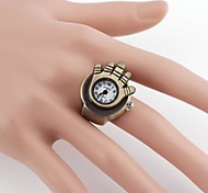 Palm-Shaped Weinlese-Metall Analog Quarz Ring Uhr (1 St.)