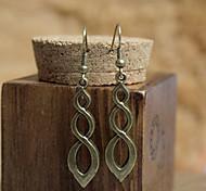Vintage (Cerchio) Bronze di rame orecchini di goccia (Bronze) (1 coppia)