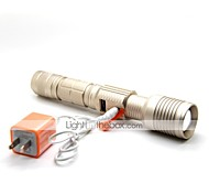 LT-FL-1018 UCL Lens 3 Modes 1xCree XPE Q5 Zoom Led Flashlight(500LM.1x18650.Golden)
