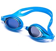 Mixed Color Silicone Adult Mirror Coated Swimming Goggles G500M