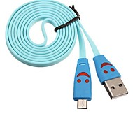 Smile Face USB Cable for Samsung and HTC Mobide Phone