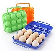 12 ciñe cajas de huevo de plástico (color al azar)