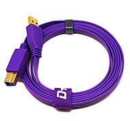 púrpura masculina usb3.0 al cable masculino para 5.9ft 1.8m ordenador