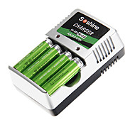 Soshine Battery Charger for AA/AAA/9V/Ni-MH/Ni-Cd with AU Plug(Included 4xAA)