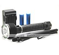 LT-4752 UCL Lens 1 Modes 1xCree XML T6 Diving Led Flashlight(1000LM.2x18650.Black)