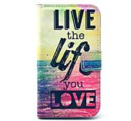 live life Meer Muster pu Ledertasche mit Kartenhalter für Samsung Galaxy Trend Duos s7562